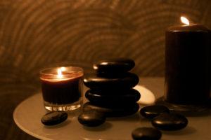 Beauty, candle Spa stone massage